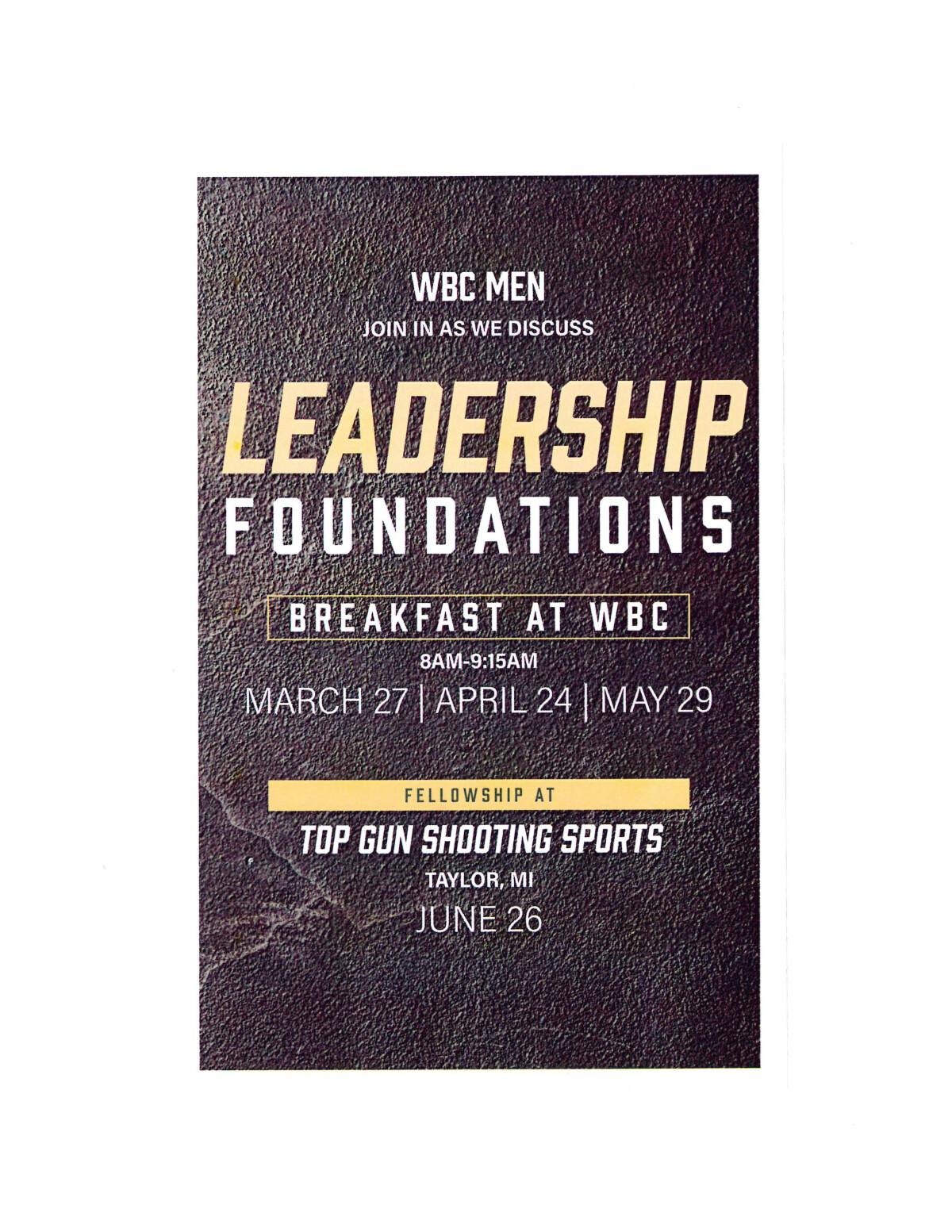 WBC Men's Leadership Foundations
